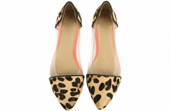 flat shoes leopad
